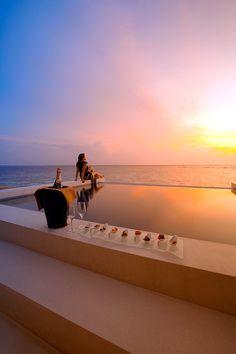 luxurious sunset   Lily Beach - Maldives
