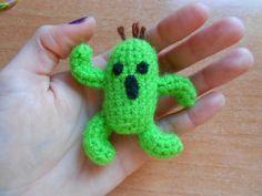 #patron #gratis #free #pattern #cactilio #cactuar #finalfantasy #crochet #amigurumi