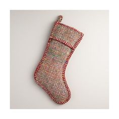 Cost Plus World Market Red Diamond Sari Stocking ($20) ❤ liked on Polyvore featuring home, home decor, holiday decorations, bohemian home decor, red home decor, red christmas stockings, cost plus world market and red home accessories