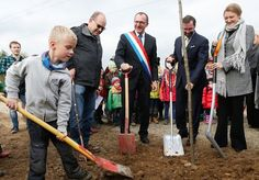 Hereditary Grand Duke Guillaume and Hereditary Grand Duchess Stephanie of Luxembourg attended treeplanting campaign