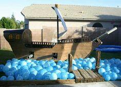 Idea: Blue Balloons resembles the sea