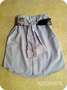 Man's Dress Shirt Becomes Flirty Skirt!