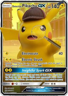 Pokemon Card Memes, Fake Pokemon Cards, Pokemon Cards Legendary, Pokemon Cards For Sale, Pokemon Tcg Cards, Pokemon Trading Card, Trading Cards, Pikachu Pikachu, Detective