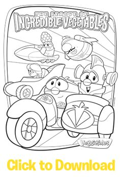 League of Incredible Vegetables Coloring Pages