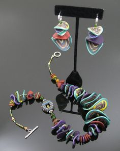 Polymer artist, Arden Bardol. Love the mixed colors, patterns and organic shapes.