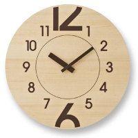 wood clock タカタレムノス壁掛け時計12+6(トゥエルヴ・プラス・シックス)