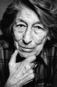Gisèle Freund (1908-2000) - German-born French photographer, famous for her documentary photography and portraits of writers and artists. Photo by Birgit Kleber, 1996