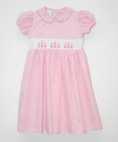 Loving this Pink Tail Bunny Smocked Dress - Infant, Toddler & Girls on #zulily! #zulilyfinds