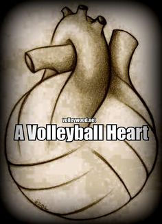 a volleyball Heart