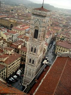 View of Florence, Italy from the top of the Duomo