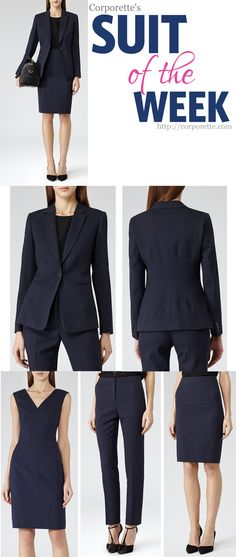 Love this interview outfit from Reiss -- a navy suit is a classic for a professional, polished look! All of the little details would make it great for a general work outfit as well.