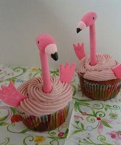 Pink Flamingo - Cupcakes 2
