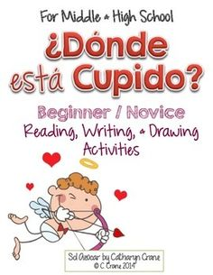 Spanish Valentine's Day: ¿Dónde está Cupido? estar and prepositions of location activities for beginning Spanish By Sol Azúcar