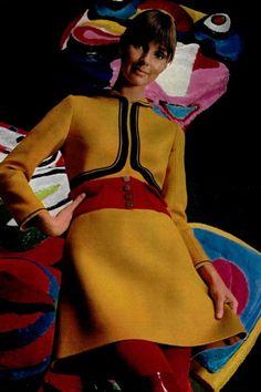 Louis Feraud, 1968.1960s fashion. Mod