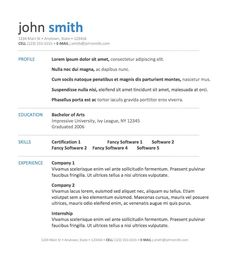 microsoft word template for resume