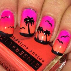 Beach ready anyone!??!? Love the turn out of this gradient