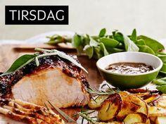 Glasert svinekam Food Inspiration, Pork, Cheese, Meat, Pork Roulade, Pigs