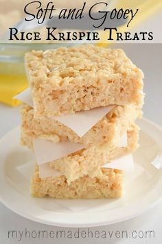 Soft and Gooey Rice Krispie Treats - My Homemade Heaven
