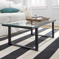 Charming Parsons Walnut Top/ Stainless Steel Base 60x36 Large Rectangular Coffee  Table