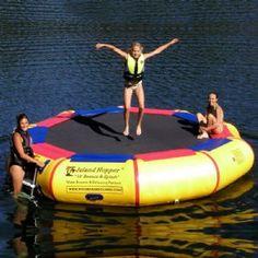 Island Hopper 13 feet Bounce  Splash Lake Water Bouncer for $989.99 #LakeTrampolines #CozyDays