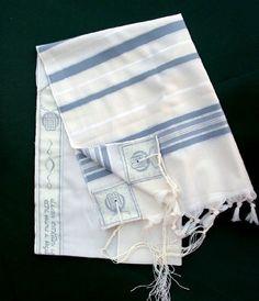 Ohr Tzion Tallit set - Light Blue/Silver, 60'' x 72'' by ZionJudaica. $128.10. Ohr Tzion Light-Wool Striped Tallit with light Blue and Silver stripes. Tallit comes with Kosher white Tzitzit tied on.