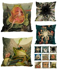 [Visit to Buy] Frog Wars Pattern Printed Cushion Cover Sofa Car Bed Pillow Cover Square Velvet Throw Pillowcase Creative Home Decor Almofada #Advertisement
