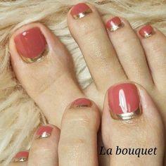 ideas reverse french pedicure toe nails for 2019 Pretty Toe Nails, Cute Toe Nails, Love Nails, My Nails, Elegant Nails, Stylish Nails, Trendy Nails, Pedicure Designs, Toe Nail Designs
