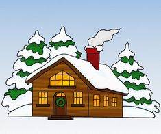 Peisaj de iarna - cum se deseneaza, #desen pas cu pas  #learntodraw #drawing London Landmarks, Viera, Bowser, Anul Nou, Painting, Fictional Characters, Education, Girls, Tattoo