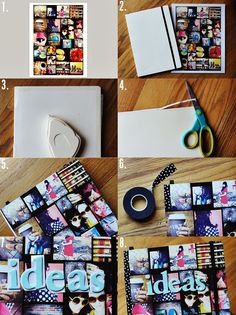 I like the washi tape binding: make your own instagram journal