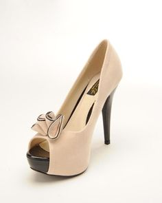 Lolita Pump in Beige Faux Suede from Pinup Couture Shoes