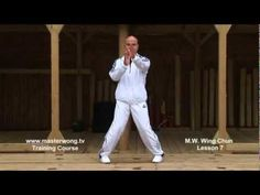 Wing Chun lesson 7: basic leg combination exercise/ moving forward with single kick - YouTube