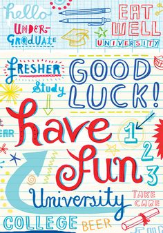 Good Luck (uni)  by Linzie Hunter, via Flickr