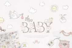 Sweet baby collection By Magic & Dreams Sweet baby collection is dedicated to the most wonderful miracle in everyone's life - the birth of a baby! Newborn babies, first toys, flying stork, alphabet and other elements of the collection can be used to create logos, clothes, invitations, postcards, to decorate a party, a blog and much more.  #affiliate
