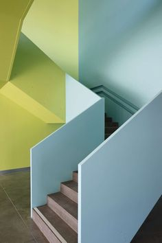 Architecture we like / Turquoise/ Blue/ Green/ colors/ Architecture/ Interior/ Stairs/ at leManoosh.com