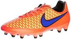 Nike Mens Magista Onda FG Firm Ground Soccer Cleats 6 1/2 US Orange/Violet