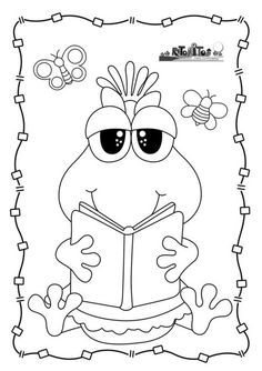 Retoñitos :: Revista para Educadores y Padres School Coloring Pages, Coloring Book Pages, Coloring Sheets, Adult Coloring, School Book Covers, Scroll Pattern, Busy Book, Decorate Notebook, Clear Stamps