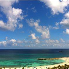 In the Bahamas! It's beautiful!