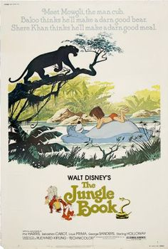 The Jungle Book is one of Disney's classics: they took a beloved book and made it into an even more loved film. The Jungle Book is the story of a young boy named Mowgli lost and raised in the jungle by a cast of Walt Disney Movies, Disney Movie Posters, Classic Movie Posters, The Jungle Book, Disney Jungle Book, Jungle Book Nursery, Posters Vintage, Vintage Movies, Retro Posters