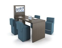 Downtown Collaborative Office Furniture by Artopex:  Collaboration around a common screen at stool height.