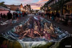 street painting gallery - Street Painting and Anamorphic Art by Chalk Artist Cuboliquido 3d Street Painting, 3d Street Art, Street Art Graffiti, Chalk Festival, Art Festival, Painting Gallery, Art Gallery, Chalk Artist, Pavement Art
