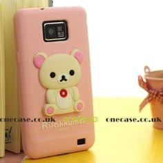 Rilakkuma case for Samsung Galaxy S II feature:       100% Brand New, high quality  Fits for Samsung Galaxy S II  With Precise openings on the protector case,  access all controls and features on the phone.  It is Anti-Slip: NO NEED to worry about slipping iPhone off your hands.   Made of durable impact resistant polymer, Skidproof and Deluxe.  Make your phone more up-market and beautiful with this trendy design  Protect your phone from scratches, dirt and bumps  Easy to Remove and install