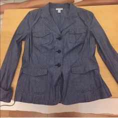 Charter Club Dotted Jacket New with tags, blue with black dots Charter Club Jackets & Coats Blazers