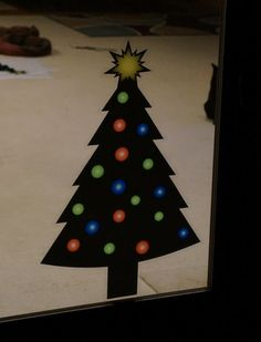 Christmas Tree Static Cling