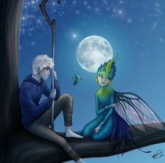 Jack Frost and Tooth- Her Story. By the way, I think Tooth's story is the saddest of all the guardians.