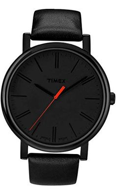 a1d065f13eea Timex Easy Reader Black Leather Strap Mens Watch T2N794 Montre Timex