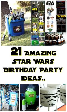 21 Star Wars Birthday Party Ideas to Feel the Force You don't need to be Yoda to throw a great Star Wars themed birthday bash. These 21 Star Wars birthday party ideas will have you hosting the best party ever Star Wars Baby, Theme Star Wars, Star Wars Kids, Star Wars Party Games, Star Wars Birthday Games, Star Wars Party Decorations, Star Wars Party Favors, Birthday Star, 6th Birthday Parties