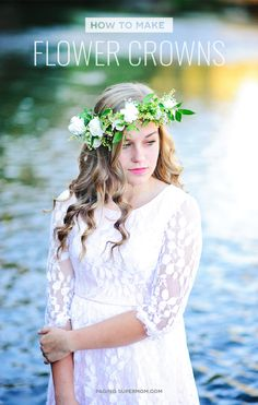 How to Make a EASY Flower Crowns with Fresh Flowers via @PagingSupermom