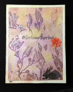 Chocolate Baroque - Glorious Springing and  Spring Foliage rubber stamp