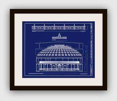 Vintage US Capitol Chamber Blueprint