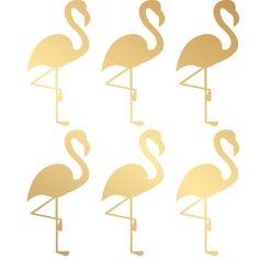 muursticker folie flamingo goud